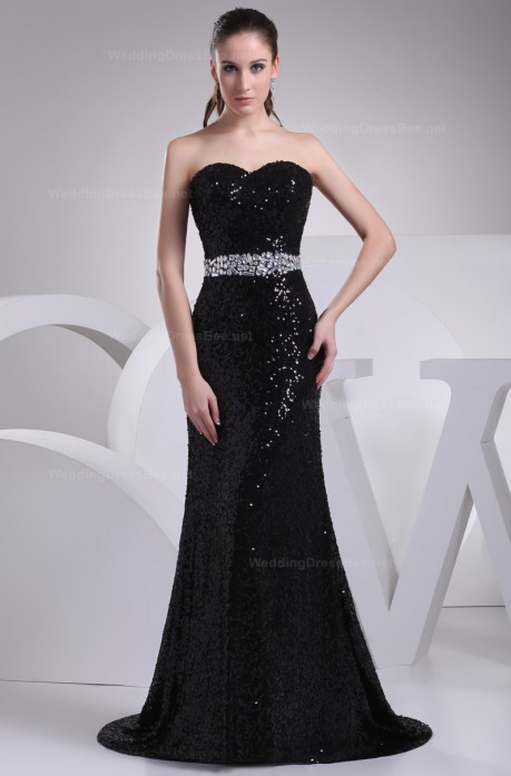 Shining sweetheart neckline Sheath / Column line evening dress –  | WeddingDressBee