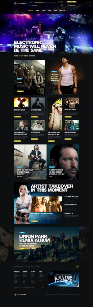 Soundscape Music & Lifestyle Magazine Concept