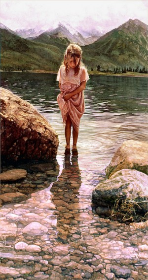 Steve Hanks 'Nature's Beauty' watercolor 2000