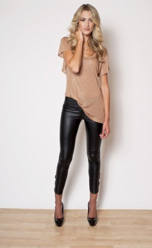 Stylish Ashley:  Leather combo