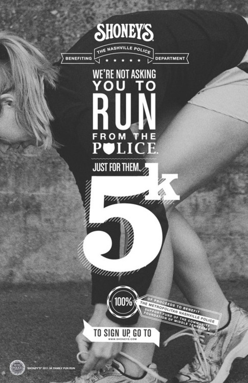Shoney's 5K Run Poster