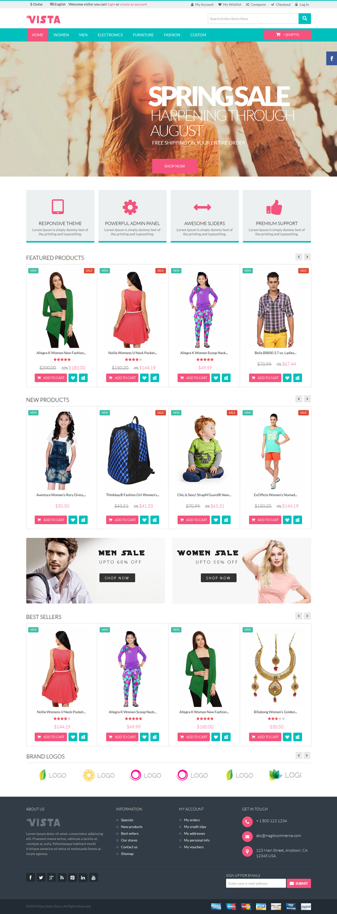 Vista is a brand new premium responsive PrestaShop theme which is fully customizable and suitabl ...