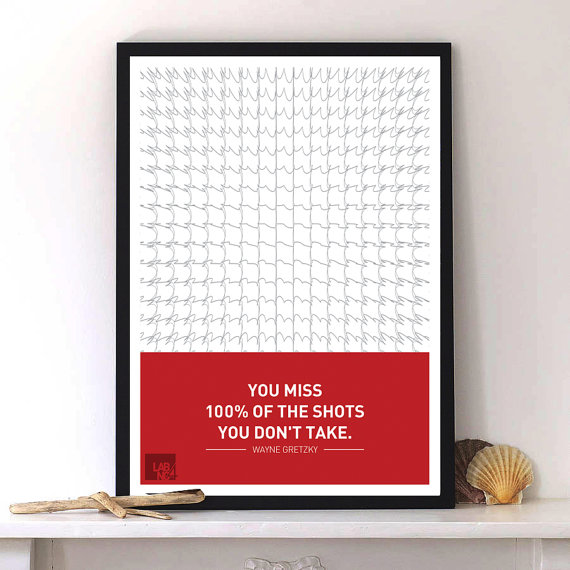 Wayne Gretzky Quote with Modern art typography by Lab No. 4