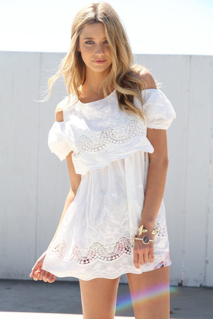 White Eyelet Tunic | Clothing and Accessories | Pinterest