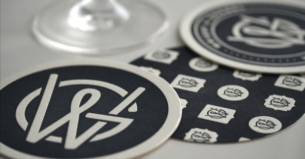 Wright & Goebel letterpressed coasters by Lawrence O'Toole.