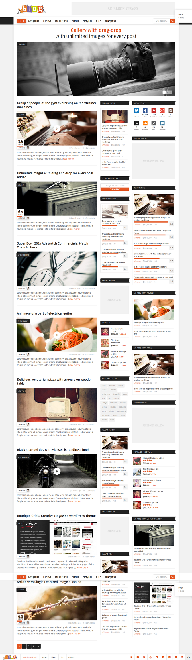 bblog Modern Blog / Magazine WordPress Theme is a professional Creative and Modern Magazine Word ...