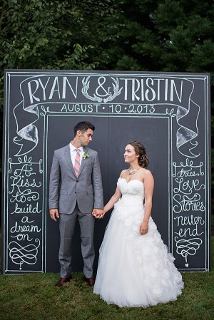 A Chalkboard Sign Wedding