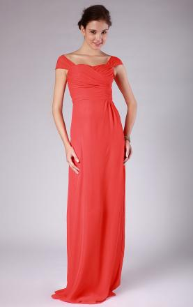 A-line Sweetheart Empire Floor Length Red Vintage Bridesmaid Dress Online(BNNAD1210)|KissyDress UK