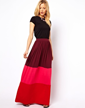 ASOS | ASOS Maxi Skirt in Color Block at ASOS