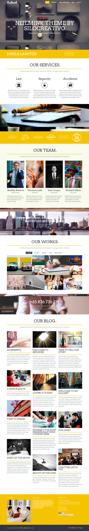 Neilmink – Responsive & Parallax Lawyer WordPress Theme