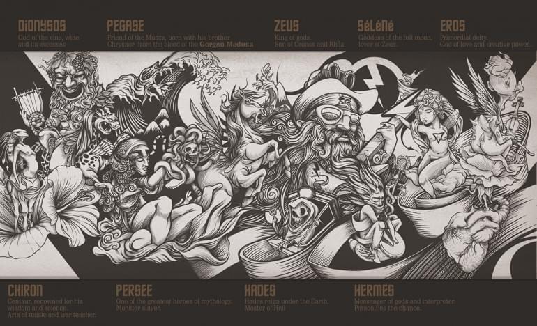 Behance :: Mythologic wall by DZO Olivier