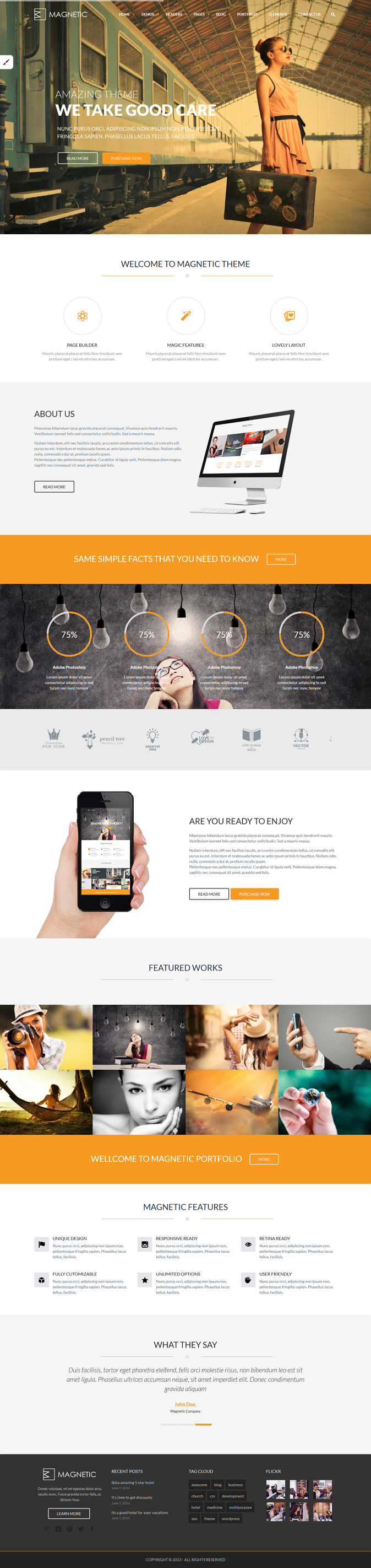 Magnetic is a responsive WordPress Theme for every usage, suited for business websites and users ...