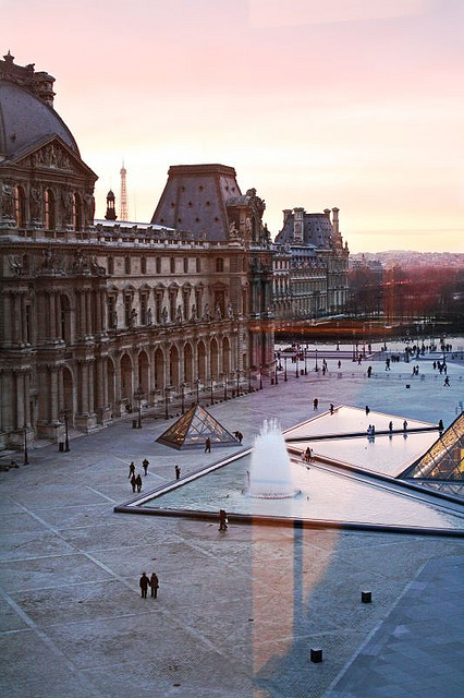 Paris Sunset from the Louvre window