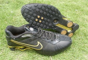 Shox R4 Womens Black Golden,Shop new shoes every day at nelly.com at good prices and with fast d ...