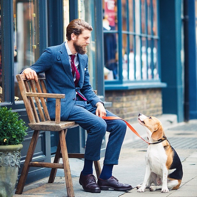 Copley Place: Our #38lambs store director, David, and his adorable pup Huxley. #hellolondon #dog ...