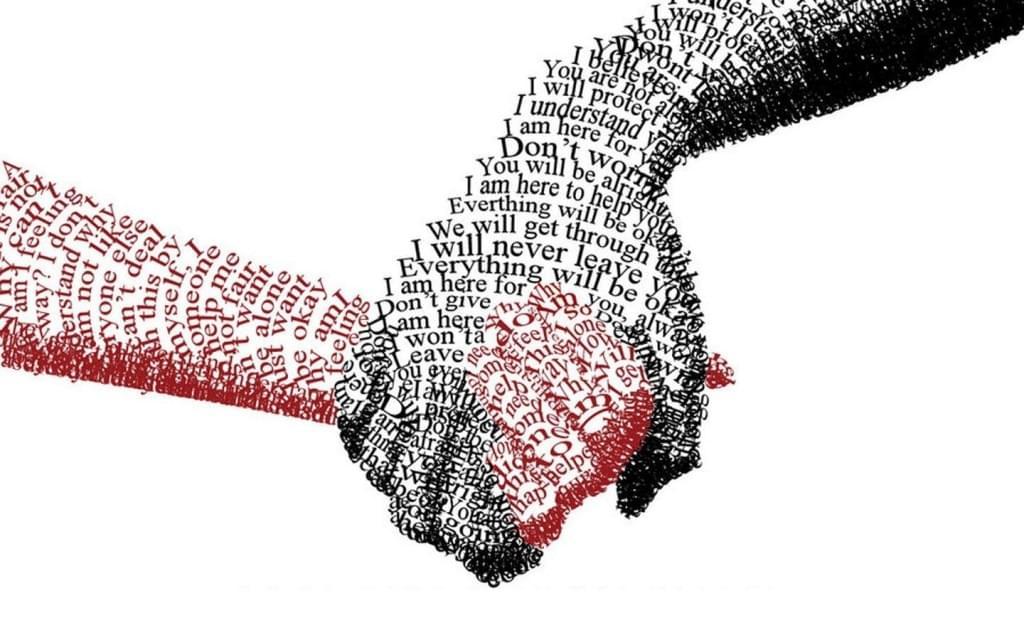 Friendship Hand   Typography