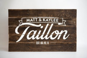 Custom Pallet Art Last Name Sign for Couples or by pixelsandwood