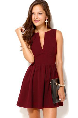 Deepcut Sleeveless Mini Dress | Colors and Fashion