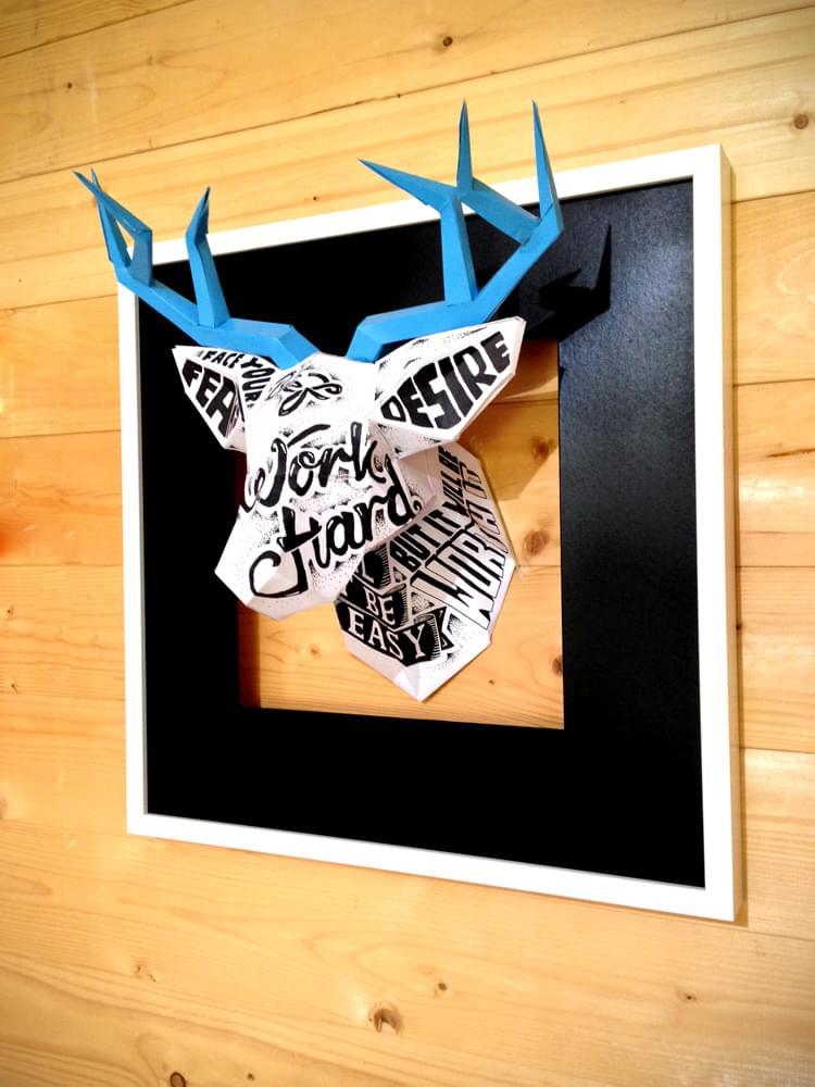 The Typographic Deer Head