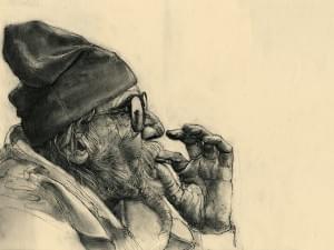 Old Man Smoking | Drawings