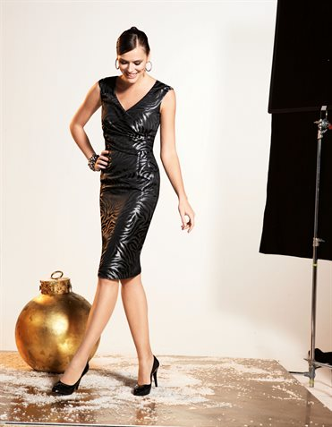 Dress  in the color black / silver-coloured – black, multi coloured, silver, metallic &#82 ...