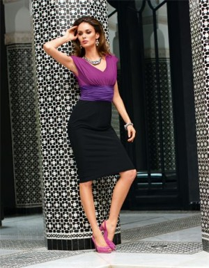 Dress  in the color multi-coloured – multi coloured, black, purple – in the MADELEIN ...