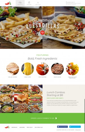Chili's Lunch Landing Page by IMM