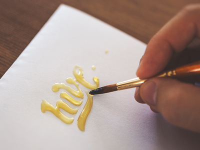 Hive  by Eddie | Honey Type Letter