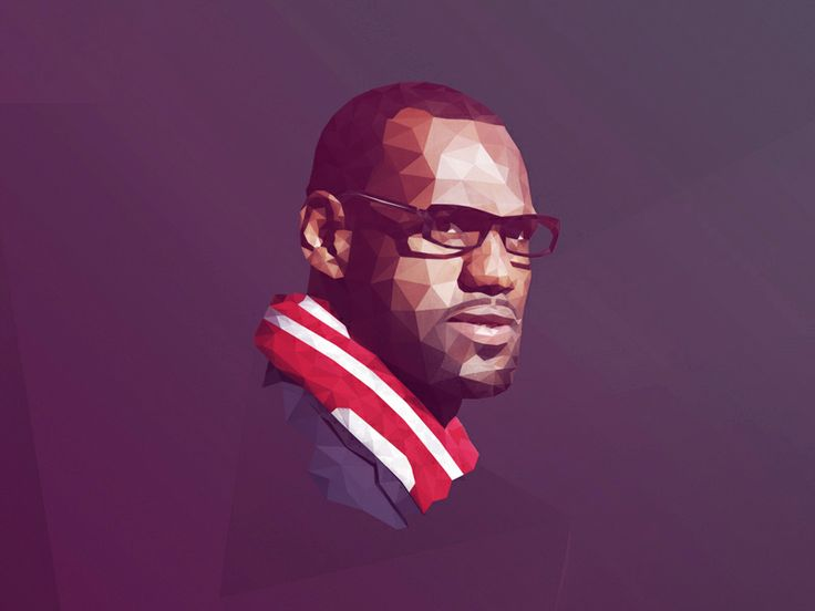 LeBron James Low Poly