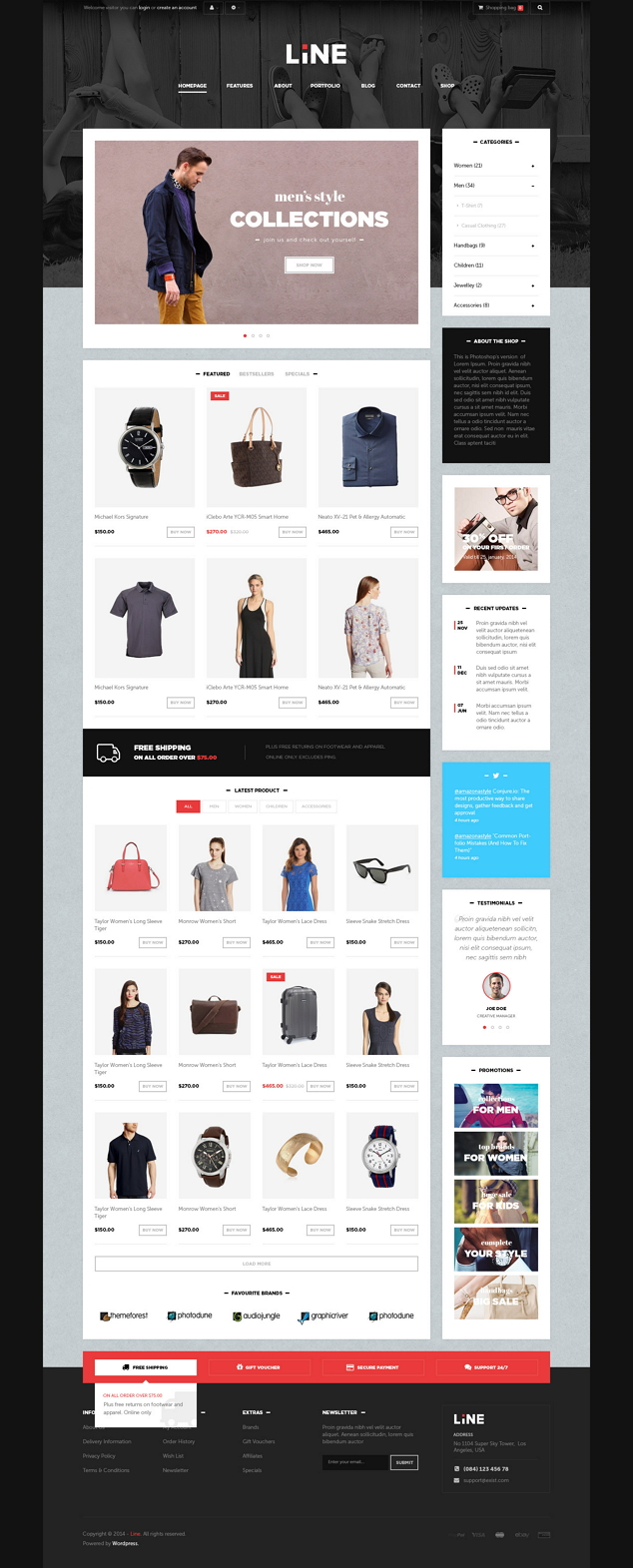 60+ Selected Best eCommerce WP templates of 2014 ->>