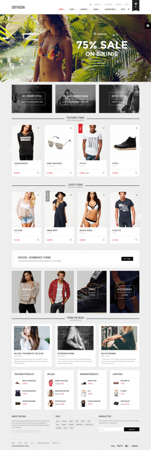 Oxygen is a WooCommerce theme, built exclusively for online shopping and offers great variety of ...