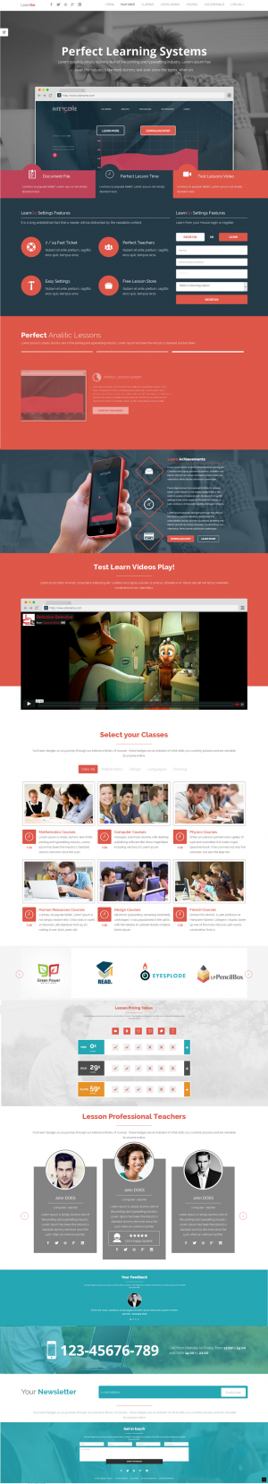 LearnGo is a one page  education learning HTML Landing Page Template.