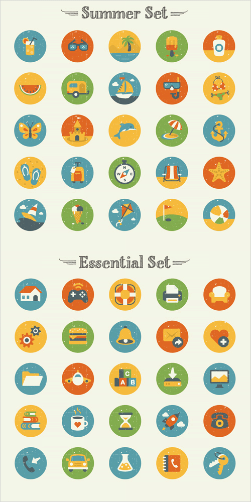 Freebie: Summer And Essentials Icon Set (50 Icons, EPS, AI, PNG) | Smashing Magazine