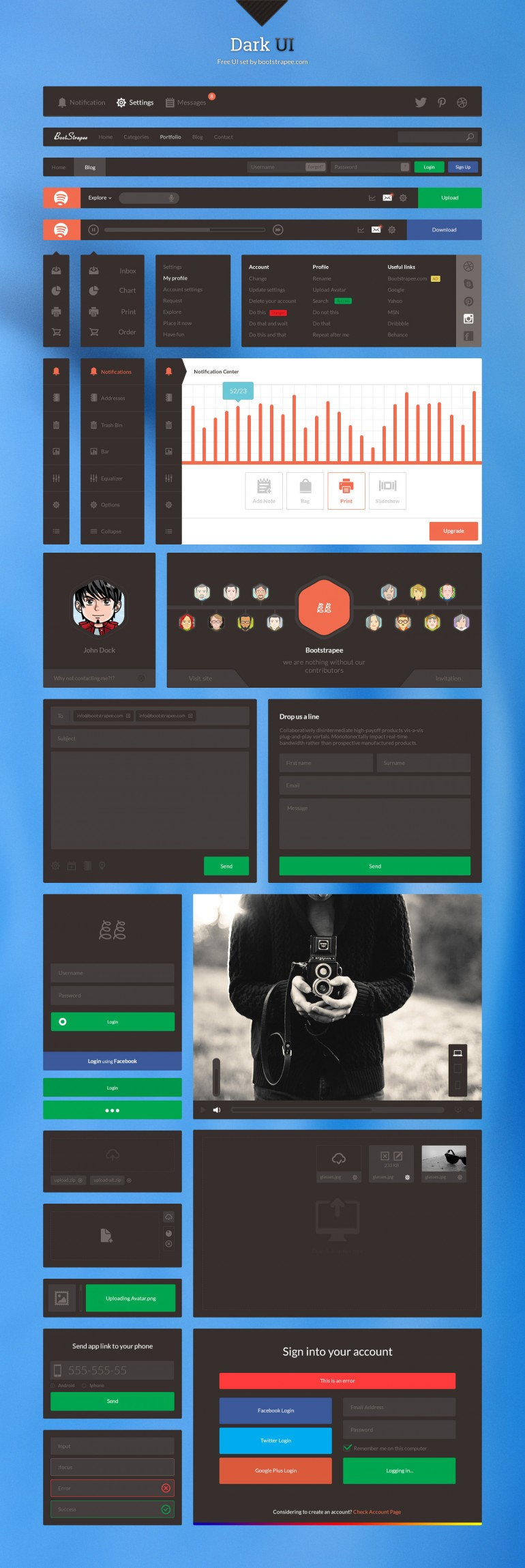 Dark UI – Free UI Set