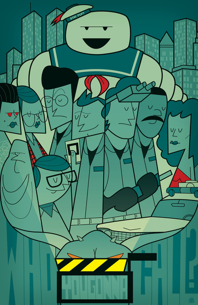 Ghostbusters Art Print by Ale Giorgini