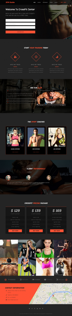 #webdesign #GYM Guide Fitness Landing Page ->