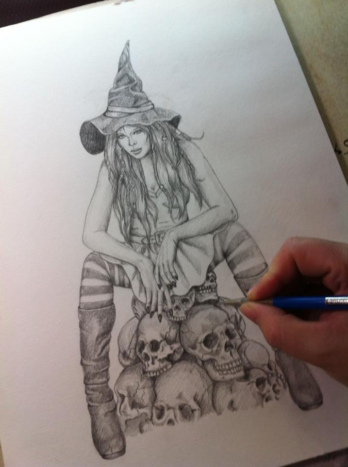 Halloween Wip by Witchi Art