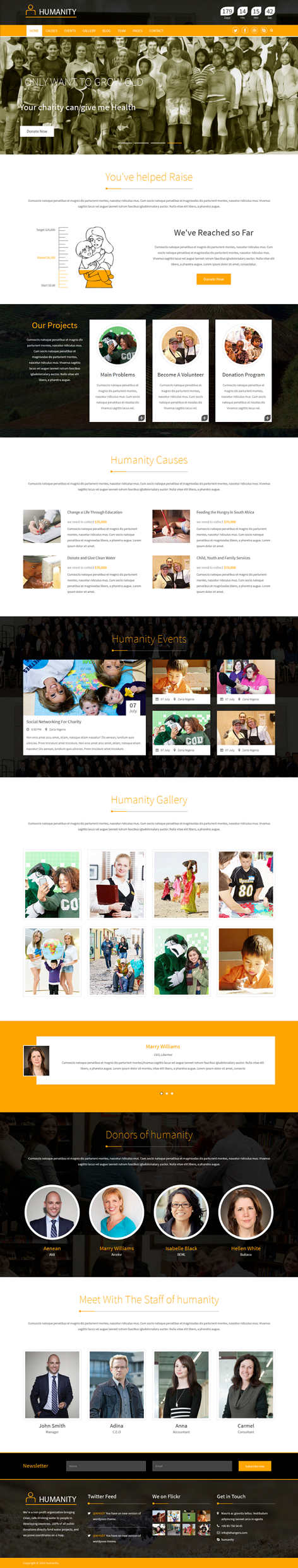 Humanity is a responsive HTML5 Charity Template compatible with Bootstrap 3.