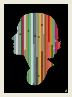 Striped Woman Screen Print