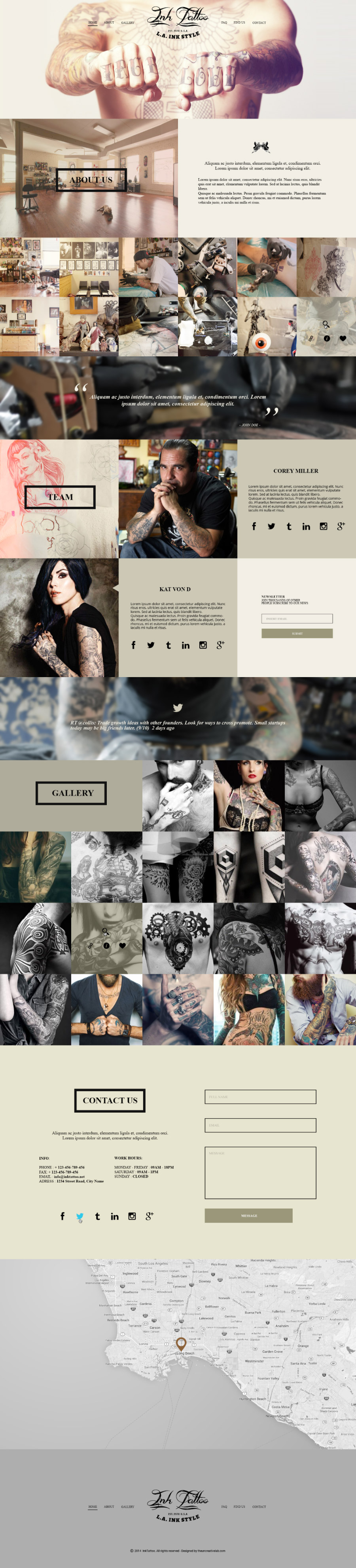 InkTattoo – .PSD Template   | The Uncreative Lab