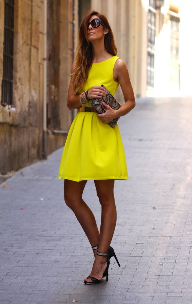 Kuka & Chic Citrus Sleeveless Skater Dress
