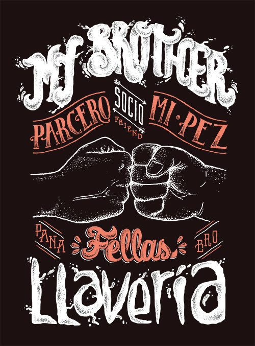 My Brother – Artwork for Latin Lover Lettering