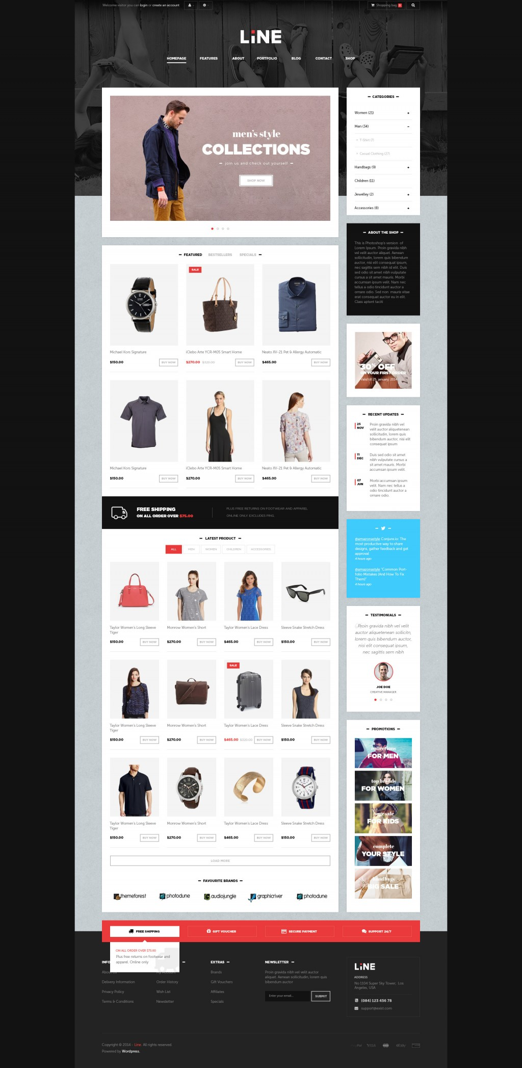 Lexus Line Great Opencart Theme