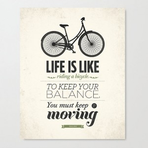 Life is like riding a bicycle wall art  Stretched by NeueGraphic
