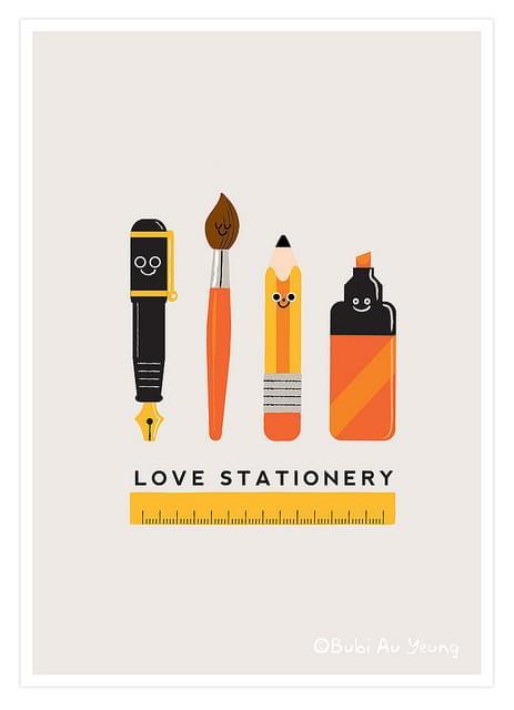 Love Stationery – illustration by bubi