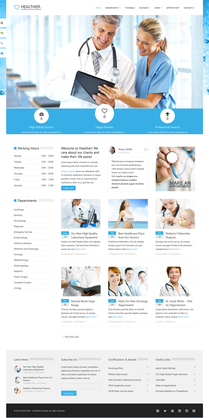 Attractive design, pleasant to the eye color scheme, great functionality and responsive layout m ...
