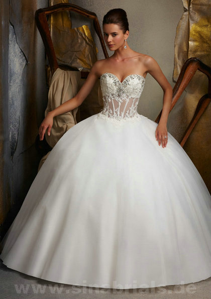 Only  – style 324.00 Mori Lee 5107 wedding dresses,The strapless neckline is encrusted wit ...