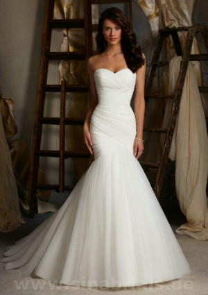 Only – style 345.00 Mori Lee 5108 wedding dresses,A strapless gown with a dropped ruched ...