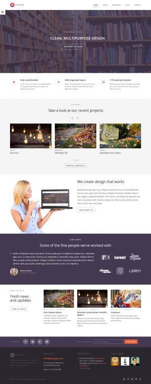 Pluto is the awesome Responsive Drupal Theme : Onepage & MutiPages created for corporate and ...