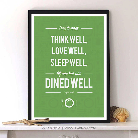 A Virginia Woolf Food Quotes by Lab No. 4